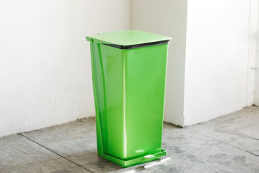 SOLD - Vintage Mipro Industrial Steel Hamper/ Trash Bin, Refinished