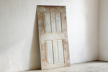 SOLD - Reclaimed Antique Steel Door Cover