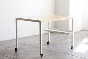 SOLD - Rehab Original - Steel and Wood Modular Work Table
