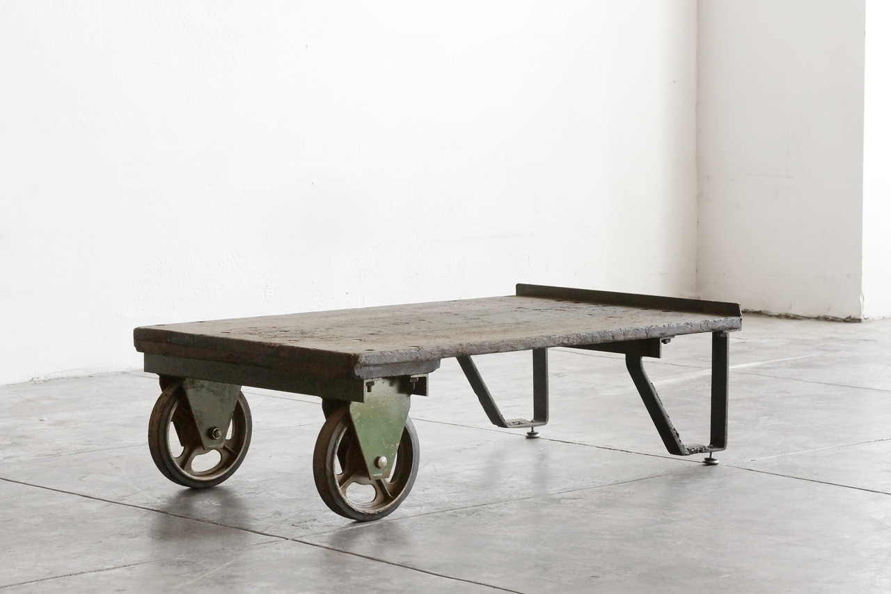 Sold Vintage Industrial Cart Coffee Table Rehab Vintage Interiors