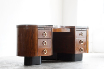 SOLD - Art Deco Corner Desk by Fletcher Aviation, 1940s