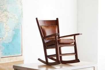 SOLD - Arts and Crafts Child's Rocking Chair, Refinished