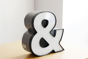 "SOLD - Vintage Channel Letter ""&"" / Ampersand Symbol in White"