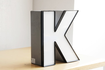 "SOLD - Vintage Channel Letter ""K"" in White"