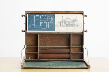 SOLD - Antique Chautauqua Children's Scroll Desk