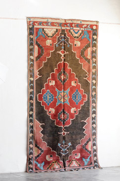 SOLD - Kuba Kilim with Cloudburst Design