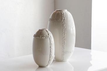 SOLD - Pair of Jonathan Adler Ceramic Vases
