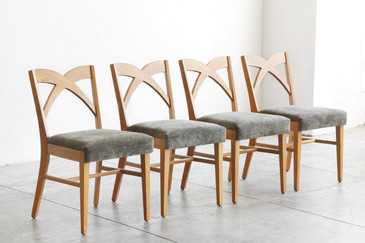 SOLD - Paul Frankl Dining Chairs for Brown Saltman, Set of 4