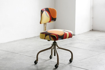 SOLD - 1960s SteelCase Task Office Chair, Reupholstered
