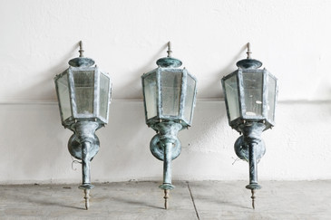 SOLD - Antique Style Outdoor Sconce Light, 6 Available