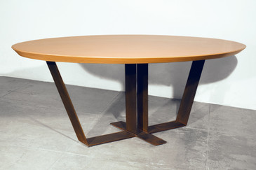 SOLD - 20th Century Custom Maple Top Table, 1990s