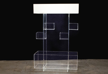 SOLD - Unique Acrylic Display Shelf, circa 1973