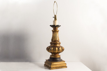 SOLD - Ornate Gold Table Lamp