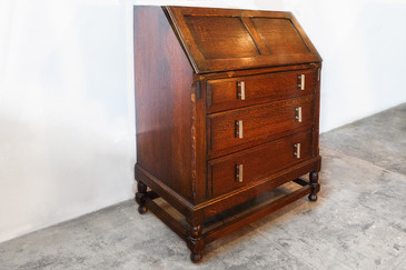 SOLD - Unique Craftsman Drop Front Secretary, circa 1910