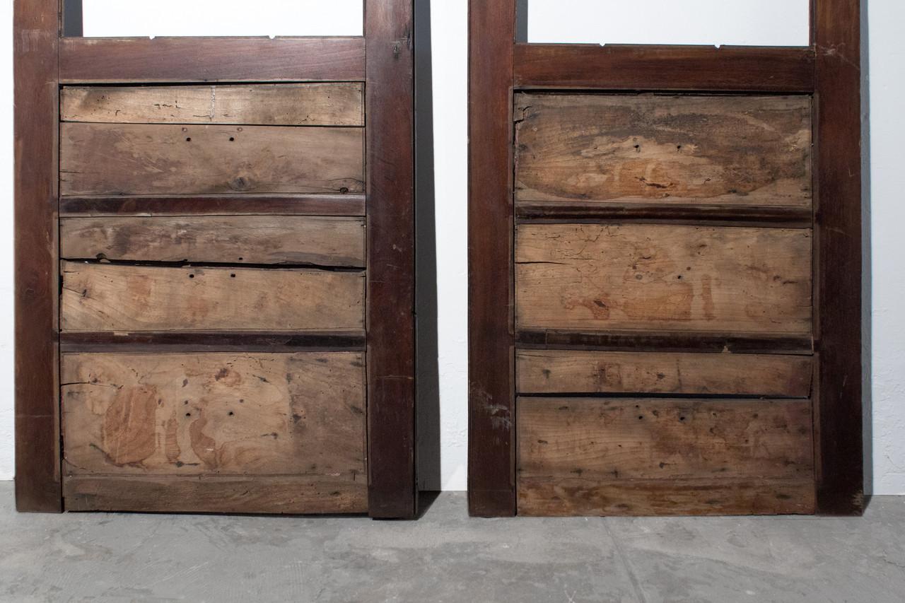 SOLD - Pair of Antique Cabinet Doors c.1900 - SOLD - Pair Of Antique Cabinet Doors C.1900 - Rehab Vintage Interiors