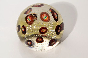 SOLD-Murano Mille Fiori Glass Paper Weight