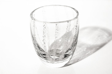 SOLD - Thick Art Glass Tumbler