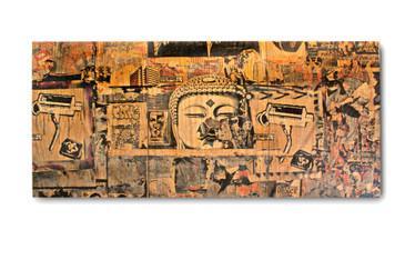 "SOLD - ""Buddha Head"" Graffiti Photo Collage, circa 2013"