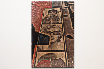 SOLD - Marilyn Monroe Street Art Photograph on Wood