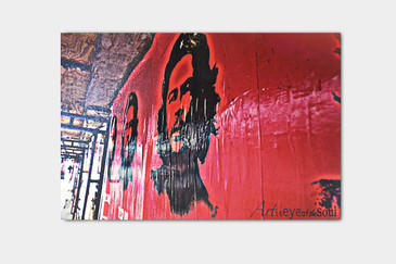 SOLD - Che Guevara Street Art Photo on Wood