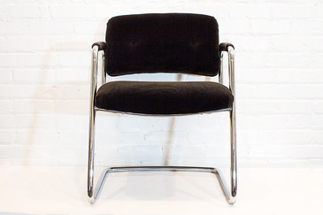 Sold - Refinished Steelcase Chrome Armchair, circa 1990