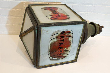 Extremely Rare Watney's Red Barrel Pendant Lamp, circa 1935, Free Shipping