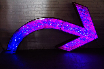 "SOLD - Extra Large Lighted Arrow from ""The Circus"" in Hollywood, CA"