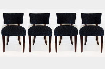 SOLD - Set of Four Dunbar Style Dining Chairs, circa 1940s