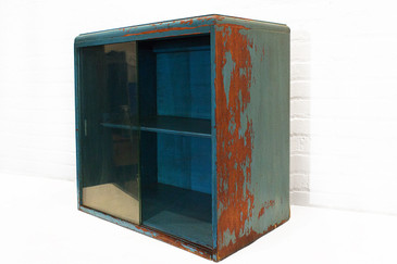 SOLD-Vintage Display Case with Sliding Glass Doors, circa 1930