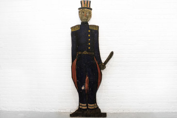 "SOLD - Folk Art ""Bobby"" from J. Sloan's Bar, West Hollywood, CA, circa 1920"