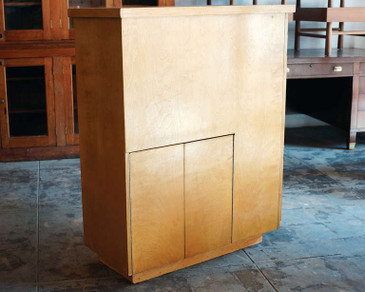 SOLD - Handmade Mid-Century Curio Bookcase Cabinet, Room Divider, Partition