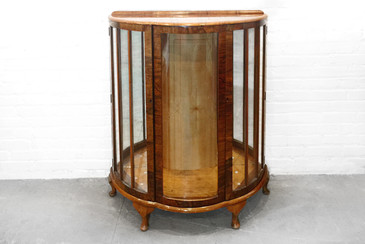 SOLD - Handsome Deco Style Curio Cabinet