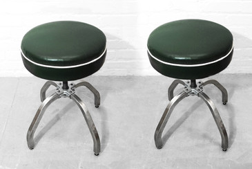 SOLD - Pair of Rare Buty-Crafters Salon Stools C. 1940s