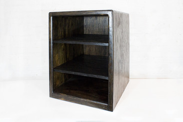 SOLD - Ebonized Oak Media Cabinet 1980s