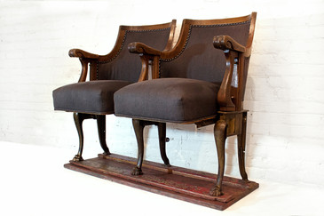 SOLD - Pair of Exquisite Antique Theater Seats, 1890s