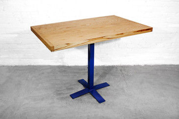 SOLD - Reclaimed Ash Top Table with Modern Base