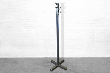 SOLD - Stately 1920s Steel Coat Hanger
