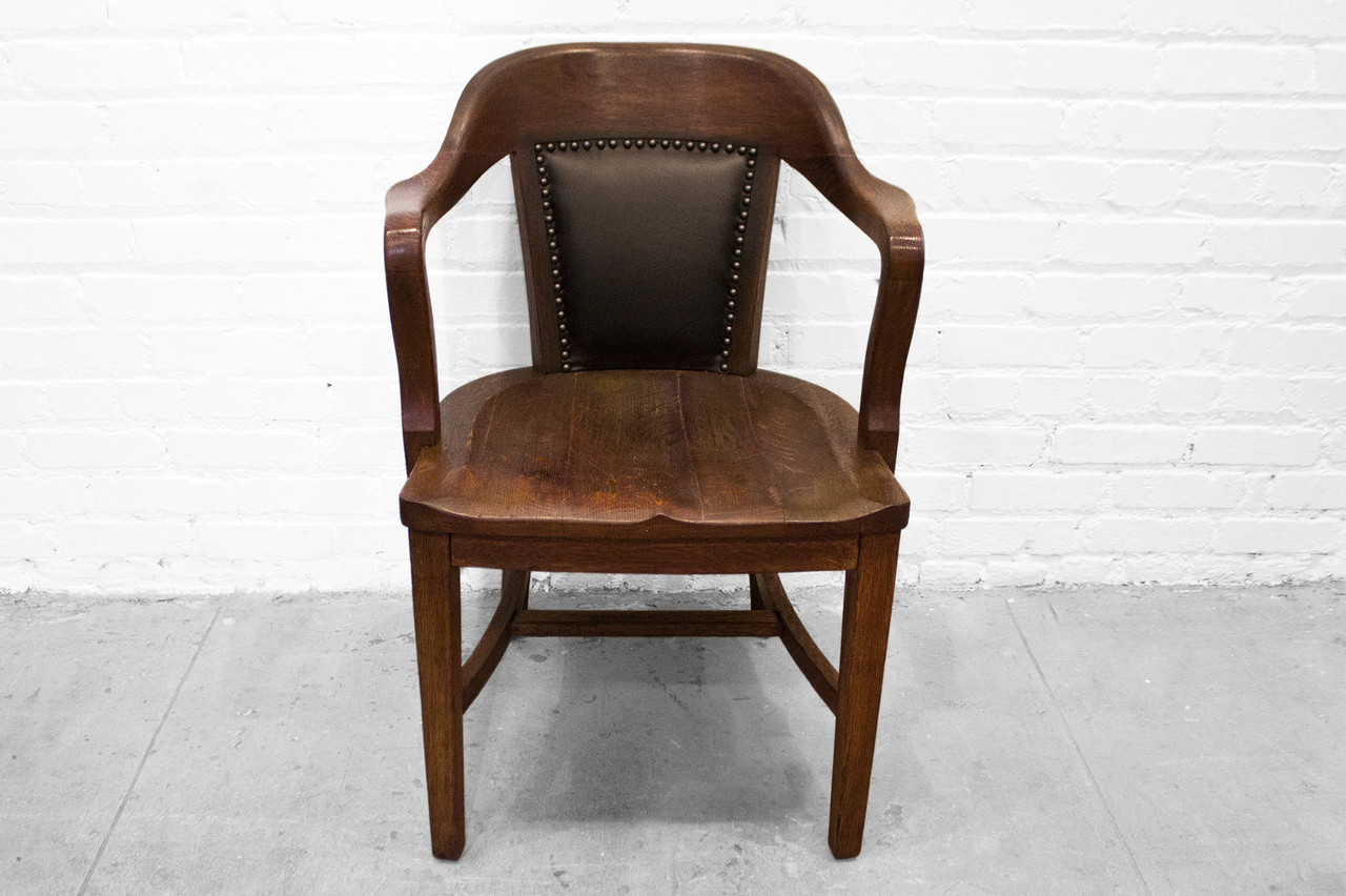 SOLD - Antique Oak Lawyers Armchair - Rehab Vintage Interiors