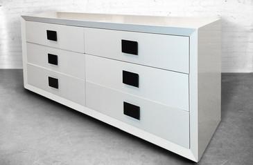 SOLD - Super Mid-Century White Lacquer Dresser