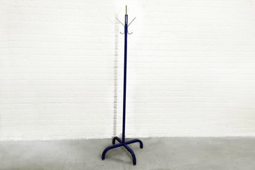 SOLD  - 1960s Streamline Steel Coat Rack