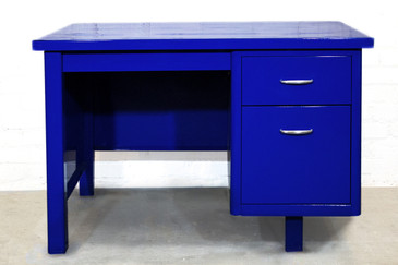 SOLD - Refurbished Single Pedestal Tanker Desk, 1960s
