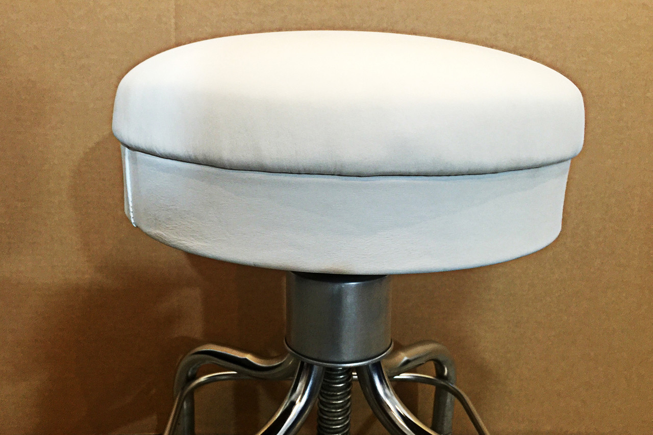 Cool Sold Vintage Pedigo Medical Stool White Leather Gamerscity Chair Design For Home Gamerscityorg