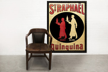 SOLD - St. Raphael Quinquina Advertising Poster, circa 1925