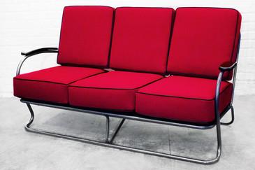 SOLD - 1930s Kem Webber Chrome Tube Sofa From Lloyd Manufacturing