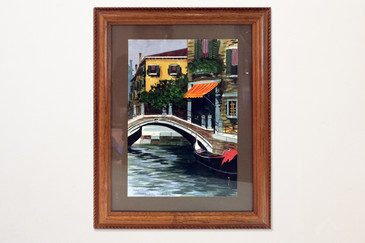 SOLD - Watercolor Painting Of Venice, Italy. Signed by Artist