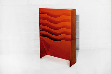 SOLD - Vertical File Holder in Safety Orange, 1990s