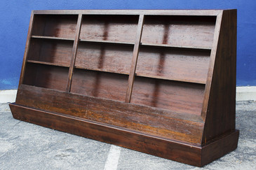 SOLD - Large Vintage Bookcase on Casters, circa 1950s