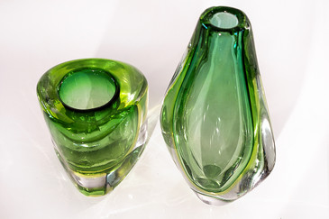 SOLD - Lime Green Murano Glass Vase