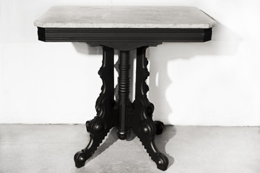 SOLD - Art Deco Style Side table with Marble Top. C. 1930s