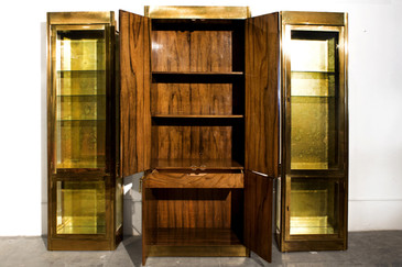 SOLD - Mastercraft Storage  Display Cabinet Trio 1982